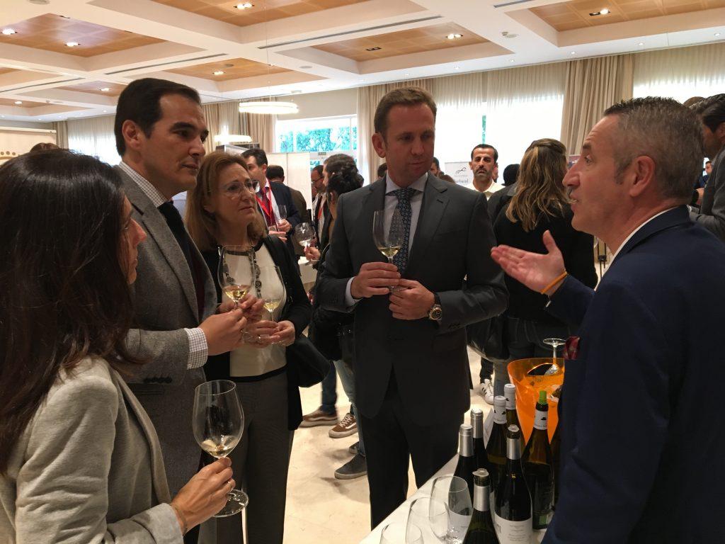 Durante la inauguración del XIV Salón de Vino y Gastronomía 2018 en Córdoba