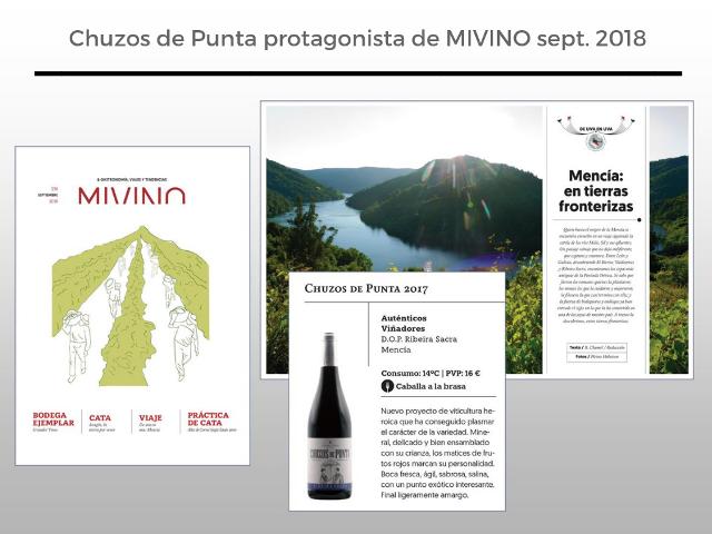 Chuzos de Punta protagonista de la revista MIVINO sept. 2018