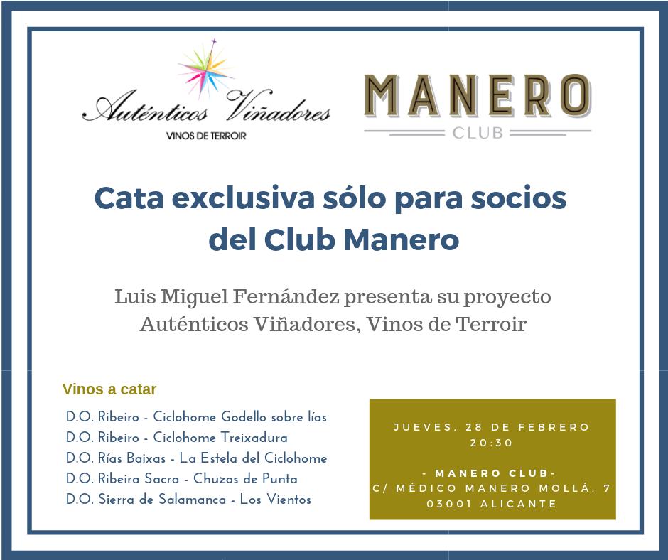 Presentación de Auténticos Viñadores en el Club Manero de Alicante