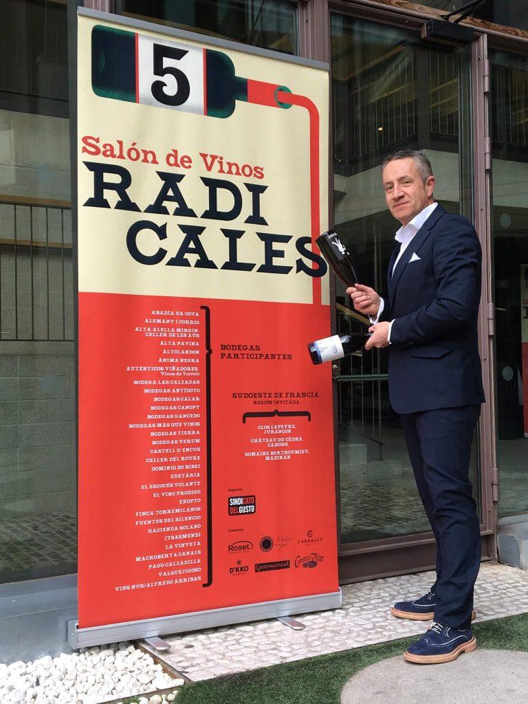 Luis Miguel Fernández, CEO de Auténticos Viñadores en el V Salón de Vinos Radicales en Madrid