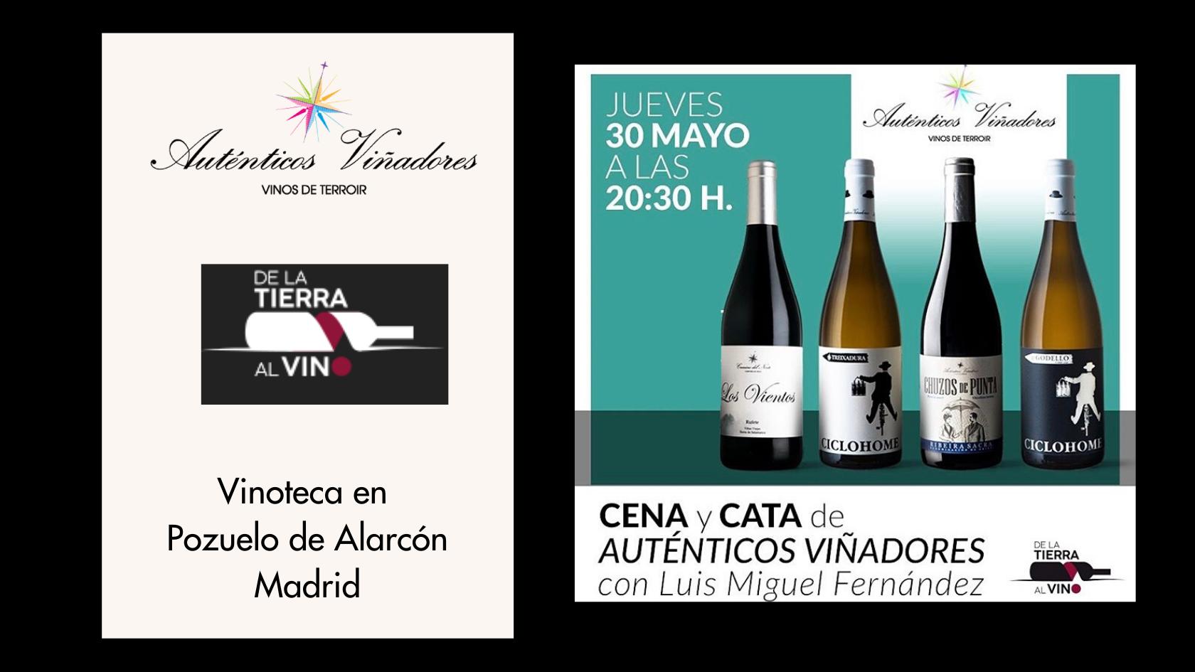 Cata – Cena en De la Tierra al Vino, vinoteca en Pozuelo de Alarcón