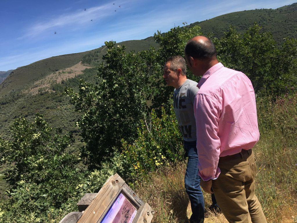 Luis Miguel y José Carlos en la Sierra de Francia