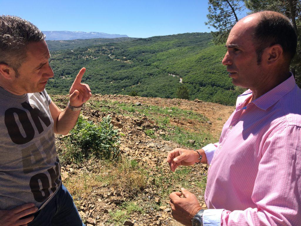 Luis Miguel y José Carlos Martín en Sierra de Francia